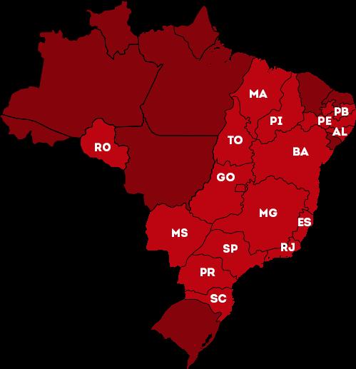 Mapa de lojas Griletto